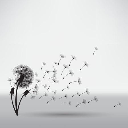 blowing: blowing dandelion