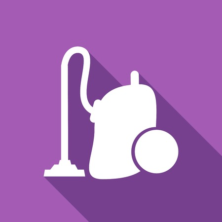 Icon vacuum cleaner with a long shadow