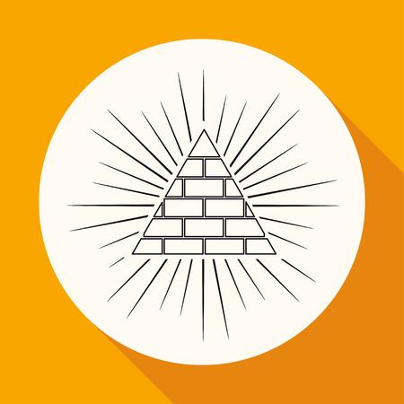 conciencia moral: Icon en c�rculo blanco con una larga sombra