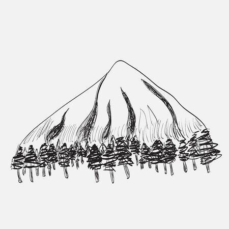 transcendental: mountain landscape Illustration