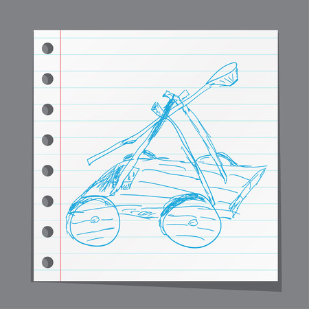 catapult: Catapult  doodle Illustration