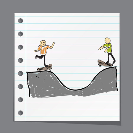 enables: Man on skateboard