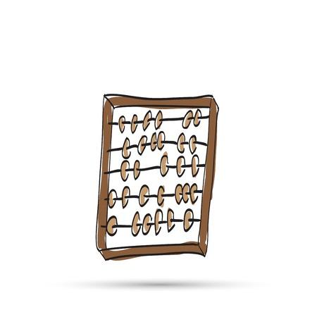 Wooden abacus sketch. Illustration