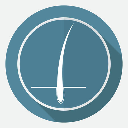 cuticle: Icon on white circle with a long shadow