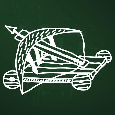 catapult: Catapult  doodle Illustration