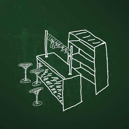 bar table: Modern bar table chairs sketch