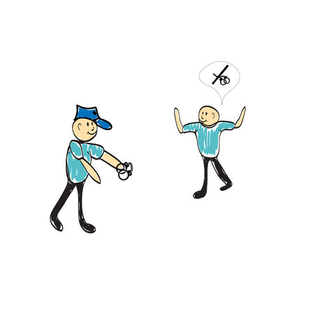 bestechung: Polizei Holdinggewehren s Abbildung