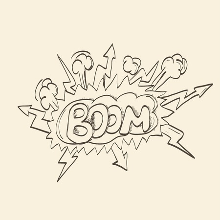 biff: Clouds boom backgrounds Illustration