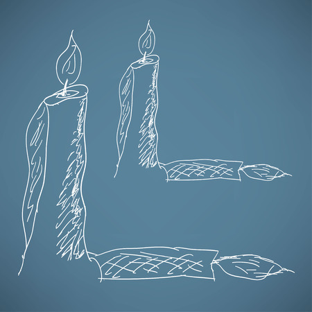 burning candle: sketch of a burning candle