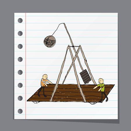 catapult: Trebuchet doodle