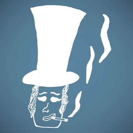 nonchalant: retro smoking man