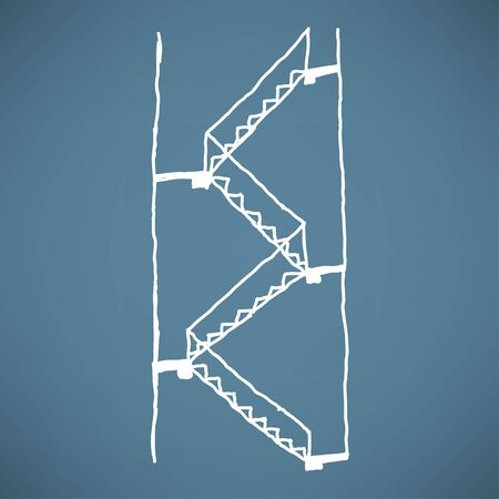 concrete stairs: multiple stairs sketch Illustration