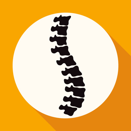 diagnostics: Icon Spine diagnostics on white circle with a long shadow Illustration