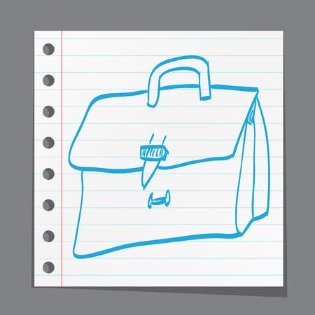 case studies: sketch illustration - leather briefcase