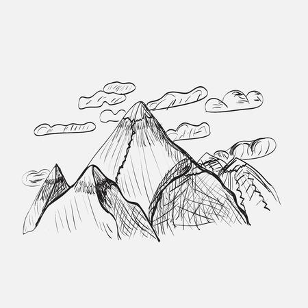 mountain landscape: mountain landscape Illustration