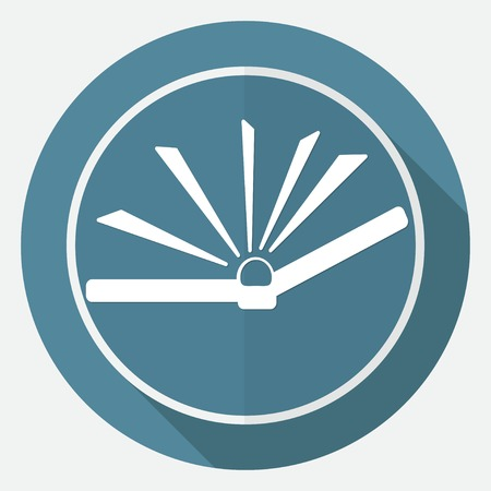 acquaintance: Icono de libro en c�rculo blanco con una larga sombra