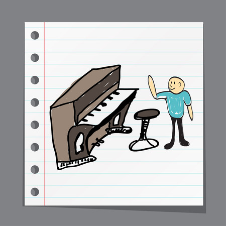 pop idol: a group of musicians playing music illustration