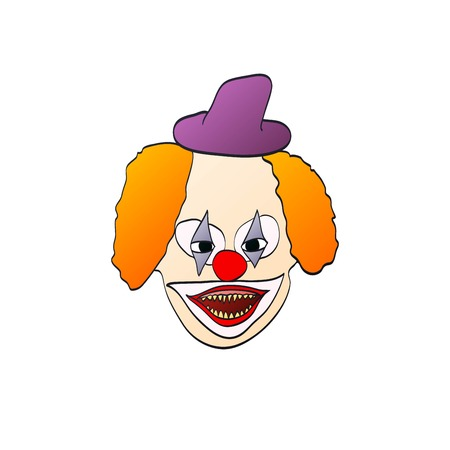 hair mask: illustration of smiling clown