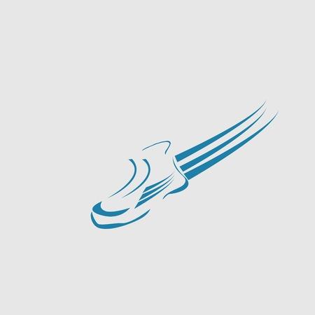 speeding: Speeding running shoe sport