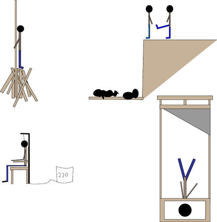 punishment: death penalty different methods of punishment Illustration