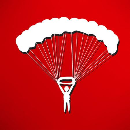 parachuter: parachute icon Illustration