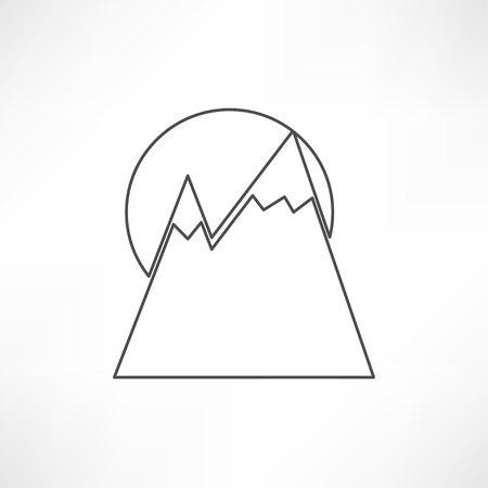 Mountainside: mountain icon Ilustracja