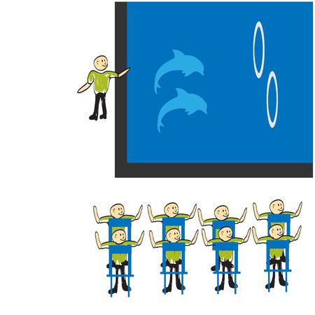 dolphinarium: dolphinarium Illustration