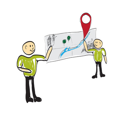 cognition: teacher showing a globe of the world illustration Illustration