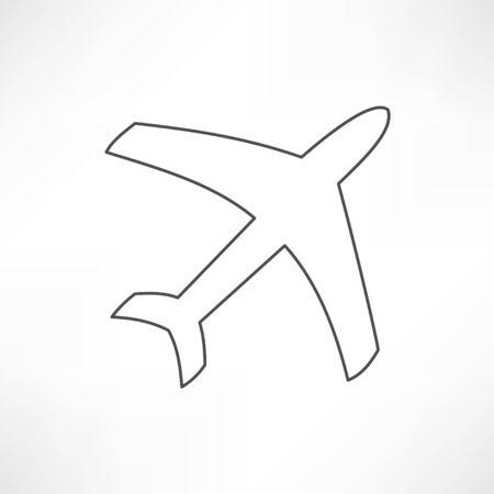 flight steward: airplane symbol Illustration