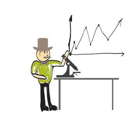 biologist: Cartoon man biologist Illustration