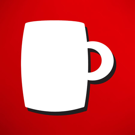 decaf: A cup of coffee icon