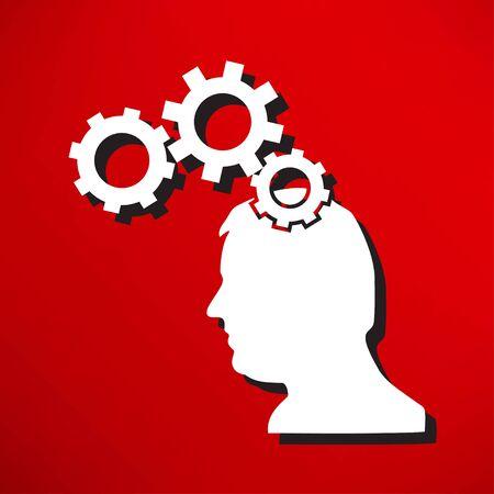 brainy: Gear head icon Illustration