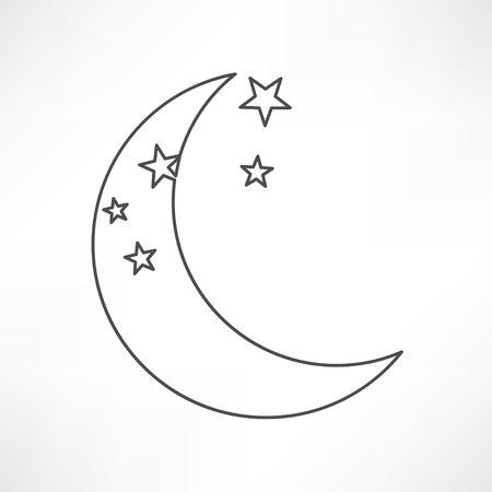 lune icône vecteur