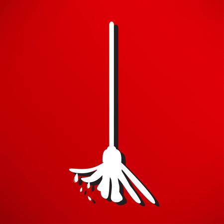 mop floor: mop the floor Illustration