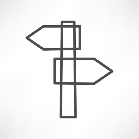 blank road sign: blank road sign icon Illustration
