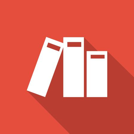 acquaintance: Book icon with a long shadow