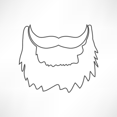 burly: beard icon Illustration