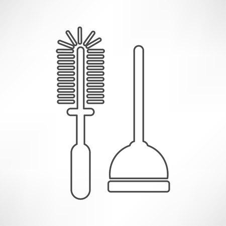 plunger: Plunger Vector Illustration Illustration