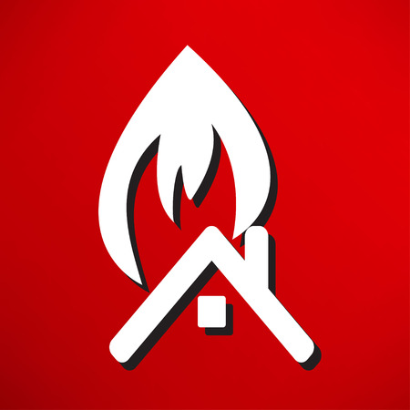 solar panel roof: fire icon