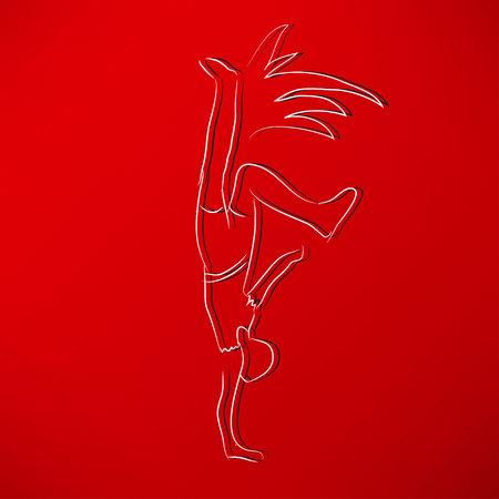 male ballet dancer: dancer icon