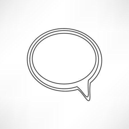 lowbrow: line speech bubble