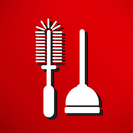 ontstopper: Plunger Vector Illustration Stock Illustratie