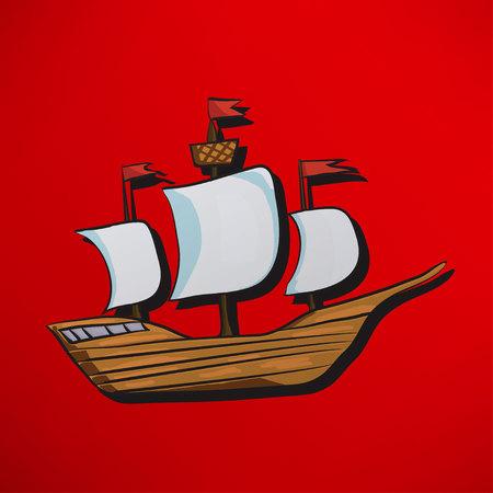 vessel: sailing vessel Illustration