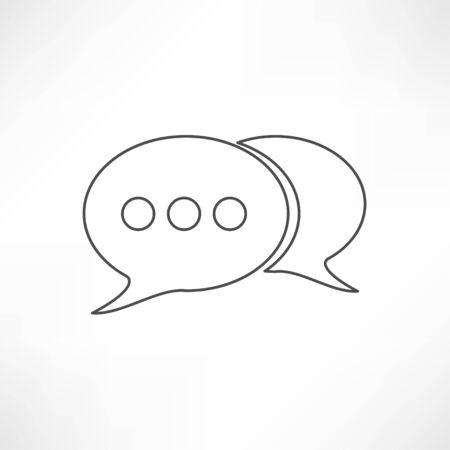lowbrow: line speech bubble