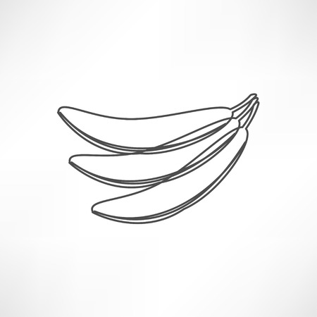 unopened: Yellow banana icon Illustration