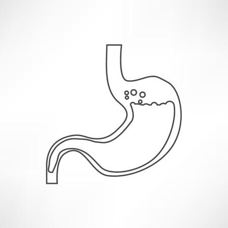 Human stomach symbol