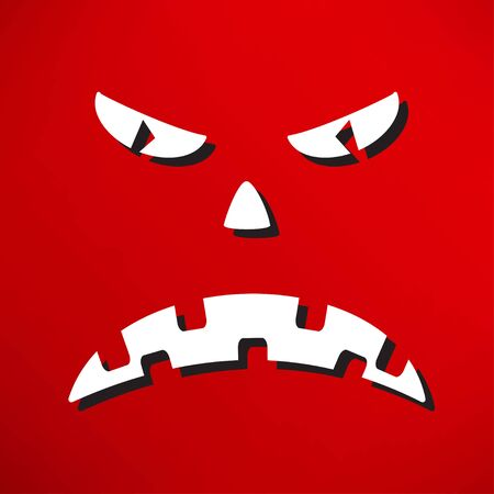 scary face: Scary face of halloween. Vector illustration