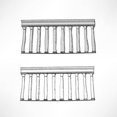 greek columns: Stylized Greek columns