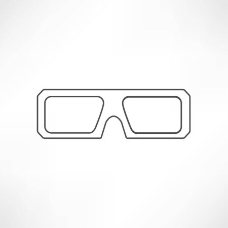 anaglyph: 3d glasses icons Illustration