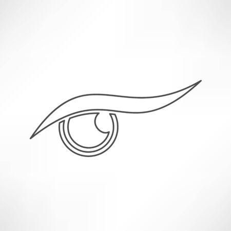 blue eye: eye icon